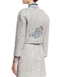 Marc Jacobs - White Embellished Tweed Jacket - Lyst