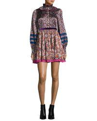 100e656bff56 Lyst - Marc Jacobs Paisley-print Silk Babydoll Dress in Green