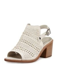 Rag & Bone - White Hester Lace-up Platform Sandal - Lyst