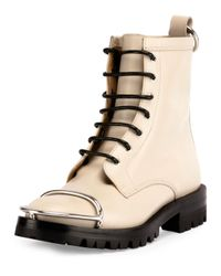 Alexander Wang Natural Lyndon Box Calf Combat Boot