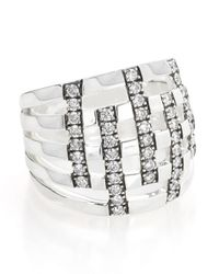 Ippolita - Metallic 925 Glamazon Domed Diamond Stripe Ring - Lyst