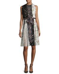 Giambattista Valli | Black Sleeveless Paneled Silk Dress | Lyst