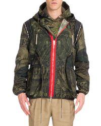Givenchy | Green Camo Money-print Hooded Short Parka Jacket for Men | Lyst
