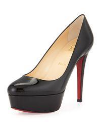 Christian Louboutin | Black Bianca Patent Leather Platform Red Sole Pump | Lyst