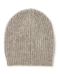Brunello Cucinelli | Multicolor Men's Cashmere Knit Beanie Hat for Men | Lyst
