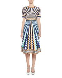 Mary Katrantzou | Osmond Dress Harlequin Blue | Lyst