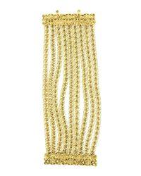 Oscar de la Renta | Metallic Golden Multi-row Chain Bracelet | Lyst