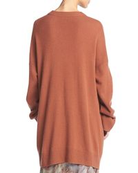 Vince | Orange Cashmere Open-front Cardigan | Lyst