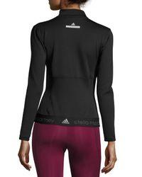 Adidas By Stella McCartney - Black The Midlayer Zip-front Jacket - Lyst