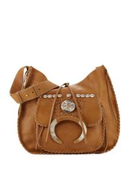 Ralph Lauren - Brown Whipstitched Leather Hobo Bag - Lyst