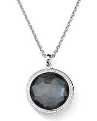 Ippolita | Metallic Stella Large Lollipop Necklace In Turquoise & Diamonds 16-18 | Lyst