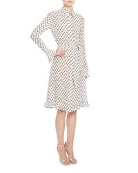 Altuzarra - White Laguna Printed Silk Shirtdress - Lyst