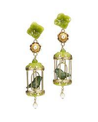 Of Rare Origin | Green Aviary Classic Jade & Pearl Earrings | Lyst