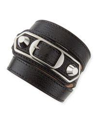Balenciaga | Multicolor Classic Leather Wrap Bracelet | Lyst