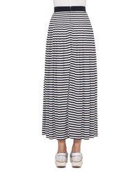 Akris Punto - Blue Striped Pleated Maxi Skirt - Lyst