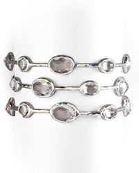 Ippolita | Metallic Rock Candy Bangle In Clear Quartz | Lyst