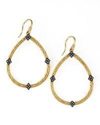 Armenta | Metallic 18k Gold Open Diamond Pear Earrings | Lyst