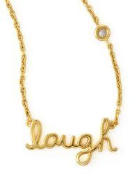 Shy By Sydney Evan | Metallic Laugh Pendant Bezel Diamond Necklace | Lyst