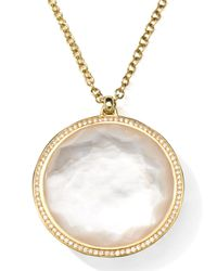 Ippolita - Metallic 18k Gold Rock Candy Large Lollipop Necklace In Doublet & Diamonds - Lyst