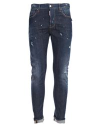 DSquared² | Blue Jeans Biker Pattella Militare for Men | Lyst
