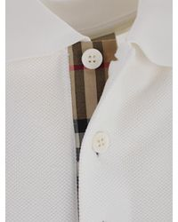 Burberry - White Polo for Men - Lyst