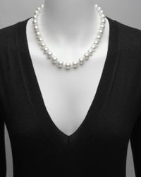 Mikimoto - Metallic South Sea Pearl Necklace With 18k Gold Clasp - Lyst
