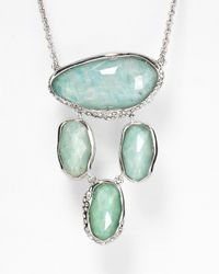 Alexis Bittar - Green Amazonite Pave Crystal Dangling Pendant Necklace 29 - Lyst