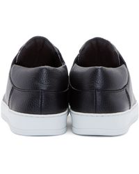 Helmut Lang - Black Leather Low_top Sneakers for Men - Lyst