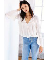 Kimchi Blue | White Laurel Blouse | Lyst