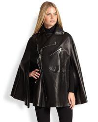 Ralph Lauren Black Label - Black Leather Dean Cape - Lyst
