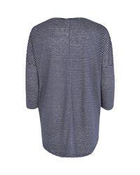 River Island - Blue Navy You Me Oui Stripe T-Shirt - Lyst