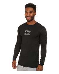 Billabong | Black Chronicle Long Sleeve Rashguard for Men | Lyst