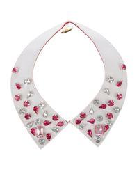 Gemma Lister - White Embellished Collar - Lyst