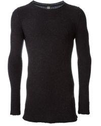 Poeme Bohemien - Gray Crew Neck Sweater for Men - Lyst