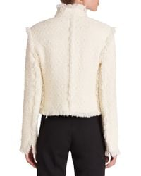 Akris Punto - Natural Fringe Tweed Jacket - Lyst