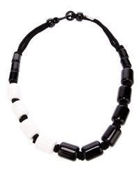 Antonella Filippini - Black Monochrome Beaded Necklace - Lyst