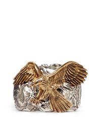 Giuseppe Zanotti - Metallic Eagle Metal Cuff - Lyst