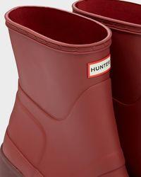 Hunter | Red Women's Original Mid Wedge Short Boots | Lyst