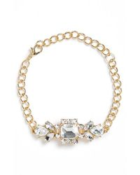 BP - Metallic Crystal Cluster Bracelet - Lyst