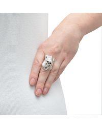 The Wildness Jewellery - Metallic Taxidermy Skull Ring - Lyst