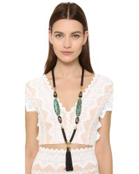 Holst + Lee | Green Anguilla Tassel Necklace | Lyst