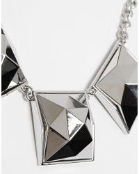 Karen Millen | Metallic Pyramid Stud Necklace | Lyst