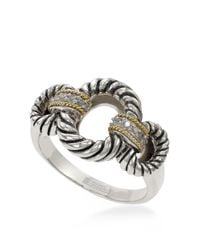 Effy | Metallic Balissima 18k Yellow Gold Sterling Silver And Diamond Ring | Lyst