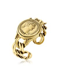 Alcozer & J - Metallic Golden Brass Roman Coin Cuff - Lyst