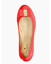 kate spade new york - Red Tock Flat - Lyst
