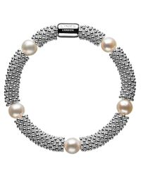 Links of London | Metallic Effervescence Star White Pearl Bracelet | Lyst