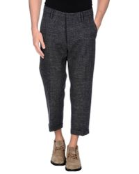 DSquared² - Gray 3/4-length Trousers for Men - Lyst