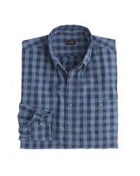 J.Crew - Blue Jaspé Cotton Shirt In Gingham for Men - Lyst