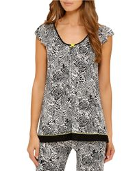 Ellen Tracy | Black Cool Intentions Patterned Top | Lyst