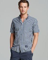 Superdry White Purest Indigo Short Sleeve Sport Shirt Regular Fit for men